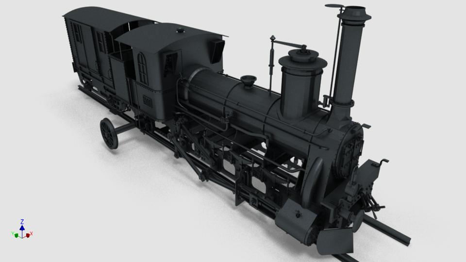 蒸汽机车3D打印模型
