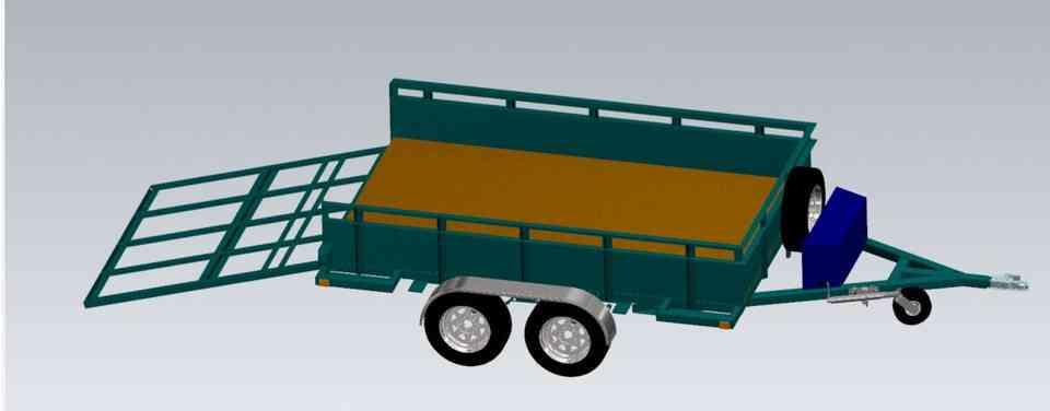公用拖车3D打印模型插图1