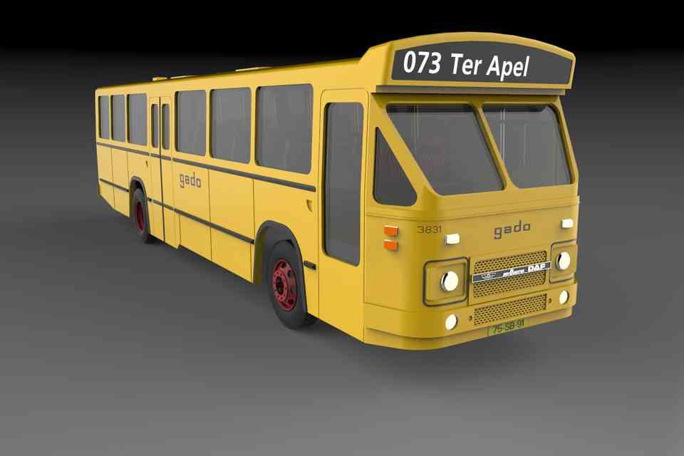 书房Oudsten DAF MB200现代化3D打印模型插图1