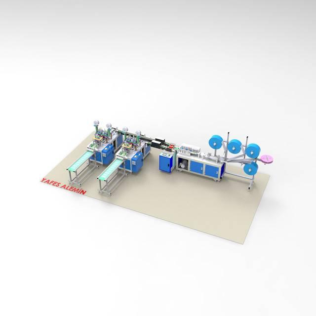 自动生产口罩机993D打印模型 1