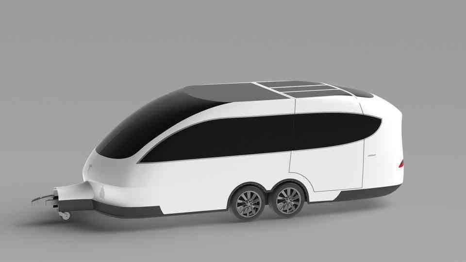 大篷车型号X3D打印模型