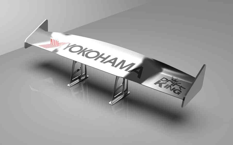 GT赛车扰流板3D打印模型插图1