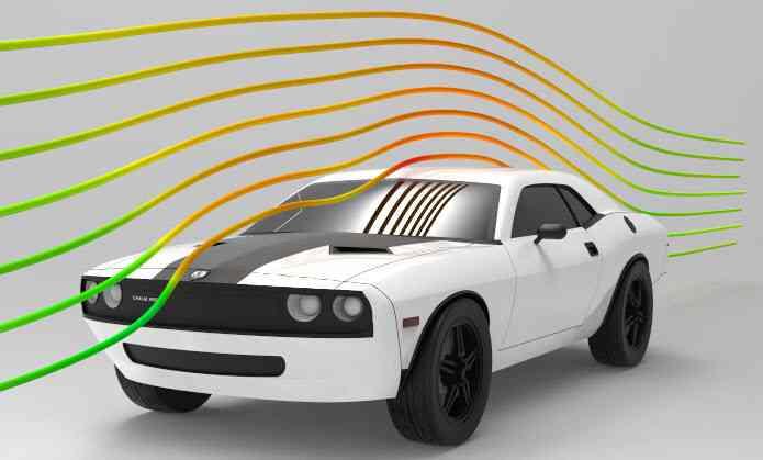 道奇挑战者与CFD结果3D打印模型插图1