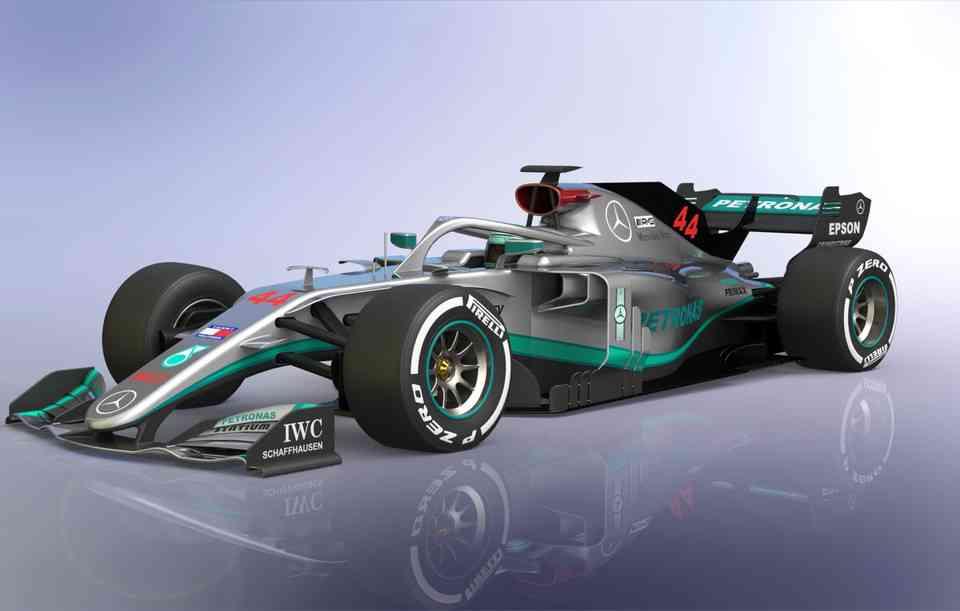 梅赛德斯F1概念3D打印模型插图1