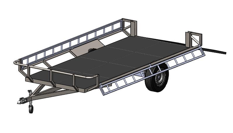 拖车QUAD3D打印模型