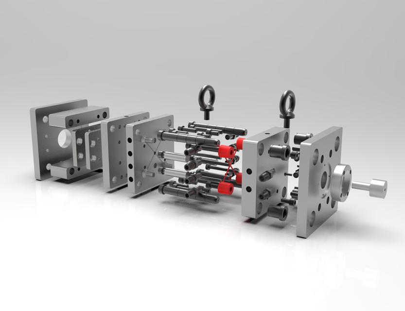注塑模设计3D打印模型
