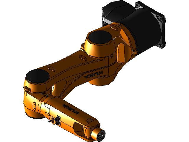 谁KR6-KR10机器人3D打印模型 1