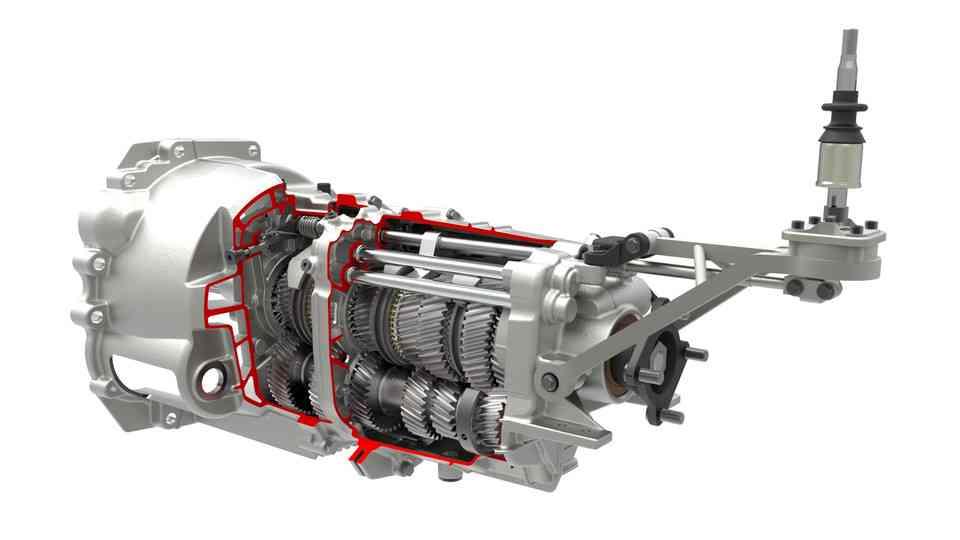 V160 6速手动变速器(GETRAG 233) - 完成组装3D打印模型 1