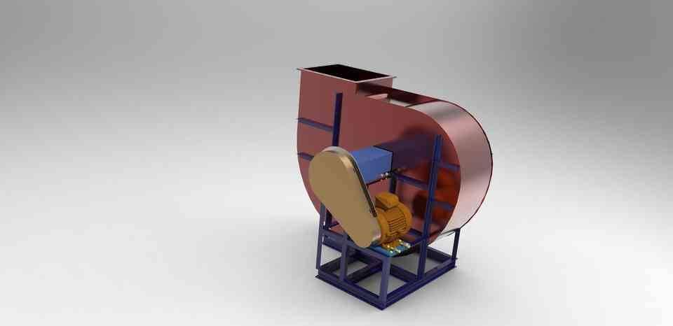 Centrifugal_Fan_ ASSEMBLY3D打印模型插图1
