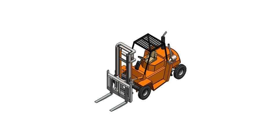 叉车3D打印模型