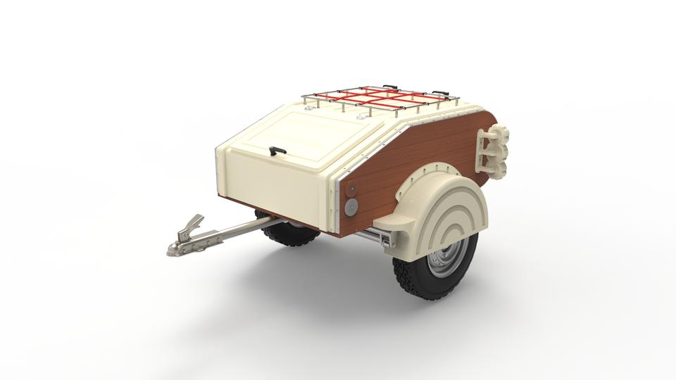 汽车拖车3D打印模型插图1