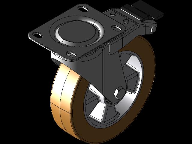 c00rgrnzlxz294.png-插件-脚轮200毫米总防抱死制动3D打印模型