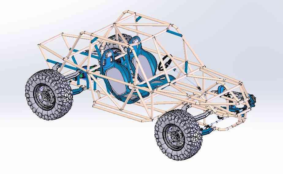 4×4越野车管包3D打印模型