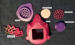 带有可更换滤芯的口罩3D模型 1