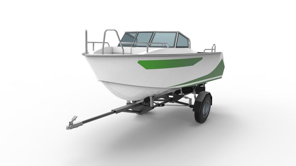 游艇拖车3D打印模型插图1