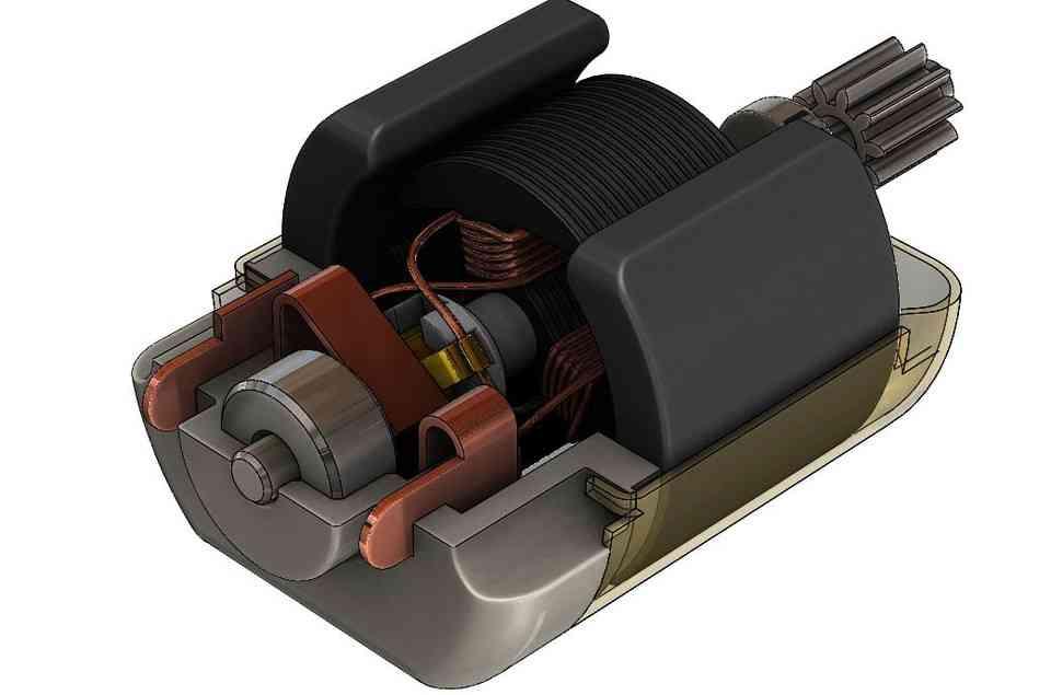 直流电机3D打印模型