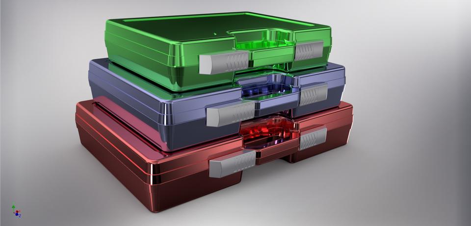 塑料工具皮套3个3D打印模型
