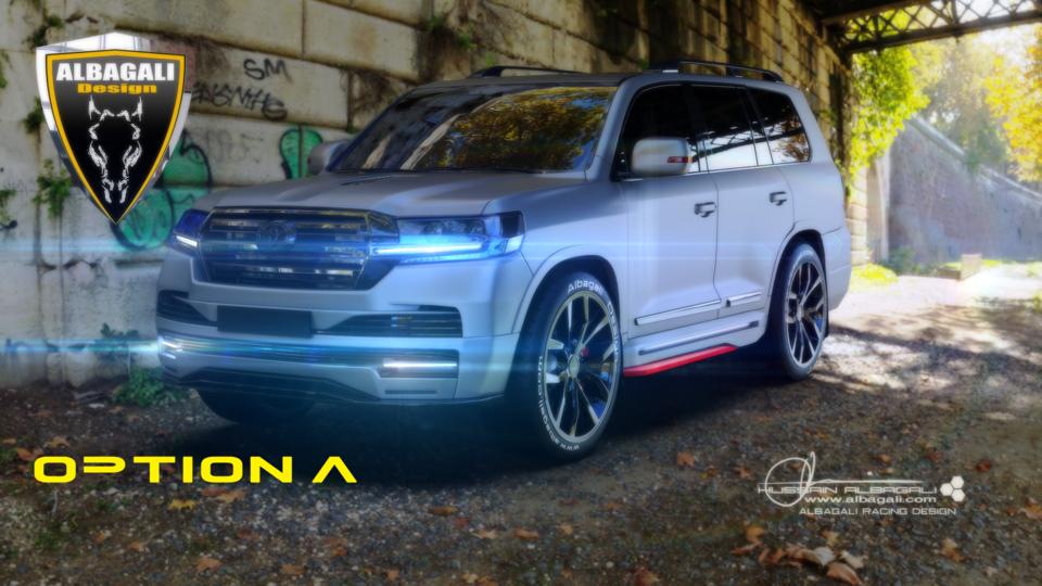 丰田陆地Krouser 20193D打印模型插图1