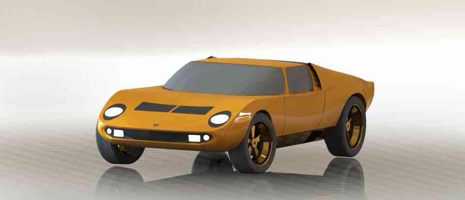 兰博基尼三浦3D打印模型