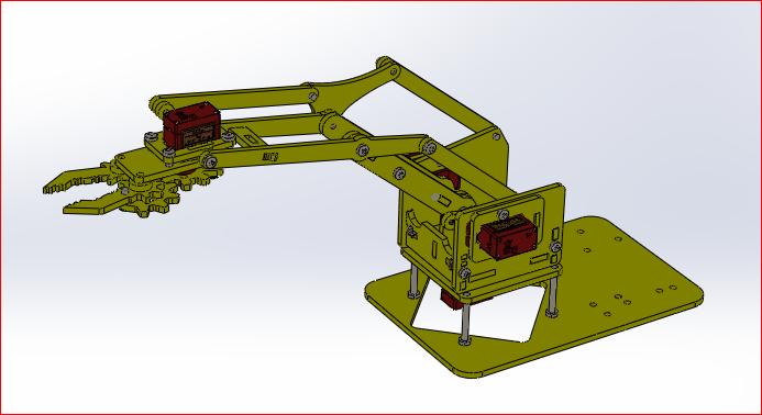 机器人手臂4自由度3D打印模型插图1