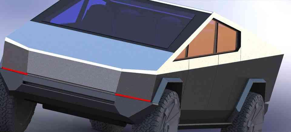 特斯拉Cybertruck 3D打印3D打印模型插图1