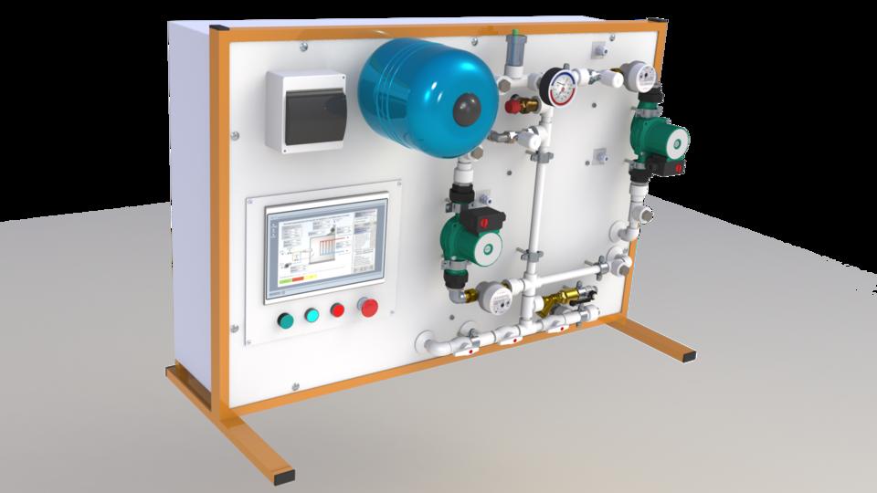 培训的立场 - 燃气锅炉房。教育!手指和下载!!!!3D打印模型