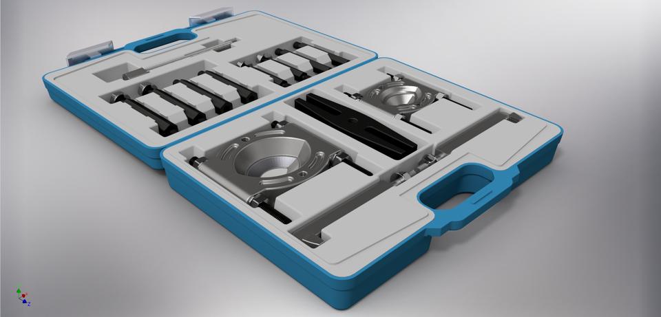 轴承起拔器设置14个在塑料外壳3D打印模型