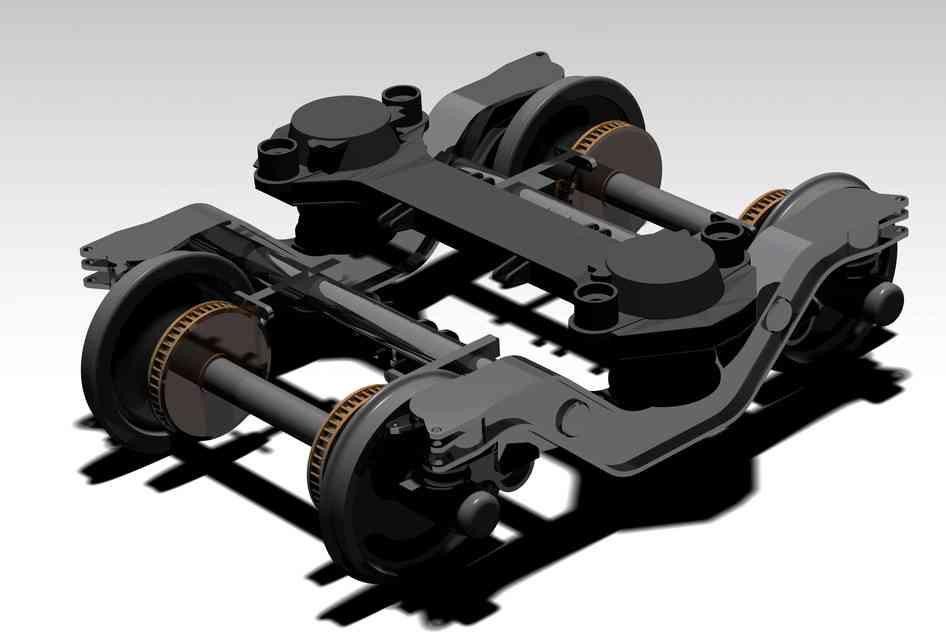 阿尔斯通转向架3D打印模型