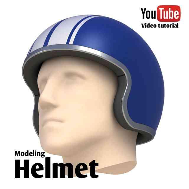 头盔3D打印模型 1