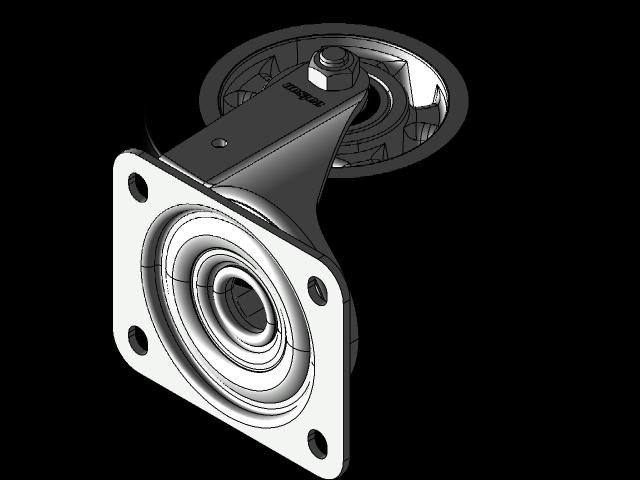 脚轮JTAB 160 MM旋转叉3D打印模型