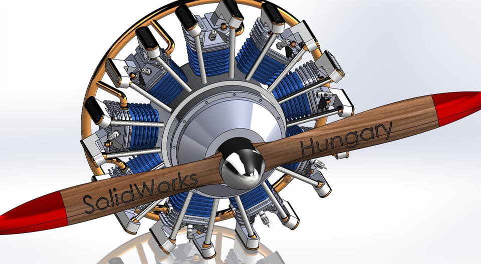 星型发动机3D打印模型插图1