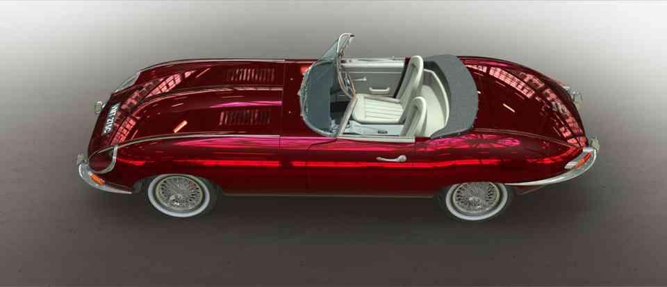捷豹Ë蒂皮特敞篷跑车3D打印模型
