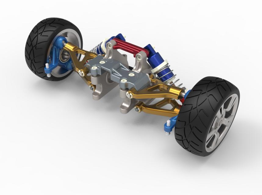 悬挂系统3D打印模型 1
