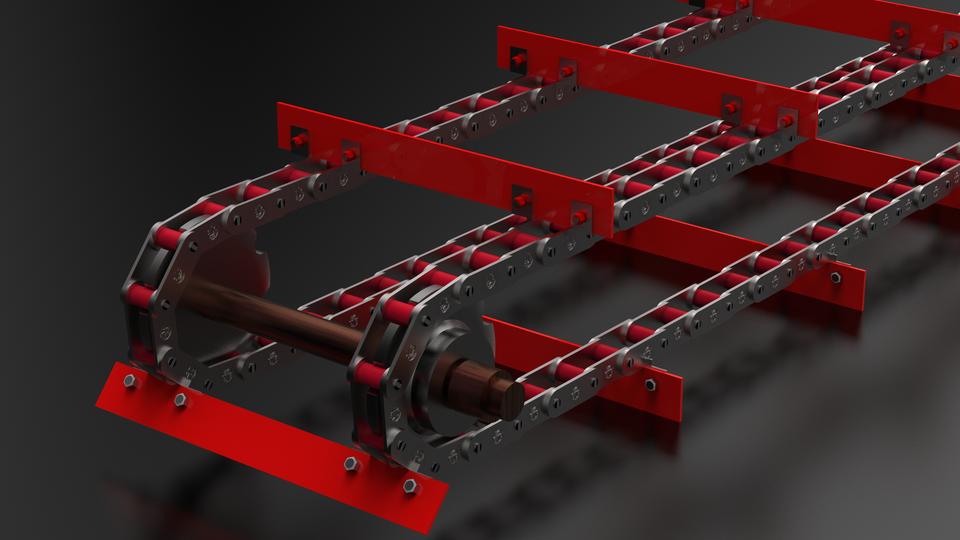 刮板输送机皮带CHAIN  -  50,80 PITCH3D打印模型插图1