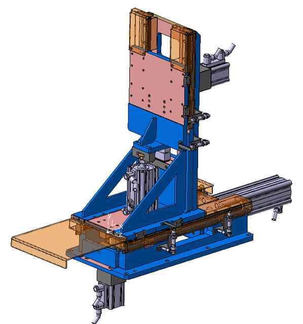 滑架的垂直和水平互锁/水平和垂直滑动单元3D打印模型