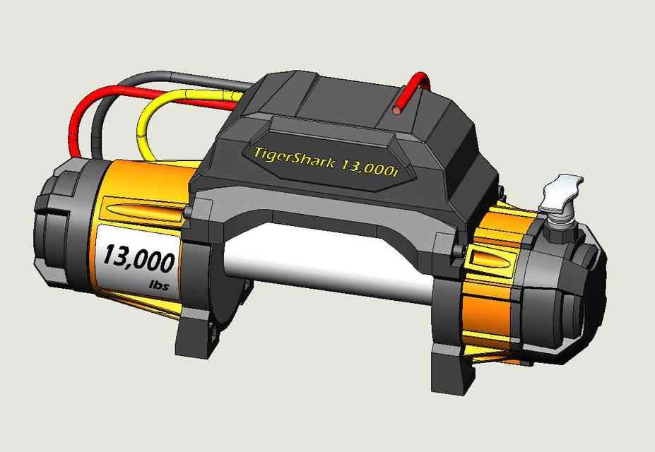 电动绞盘3D打印模型 1