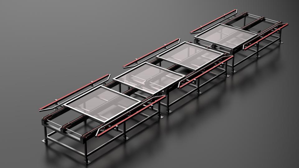 输送带链 - 设备运输TO3D打印模型 1