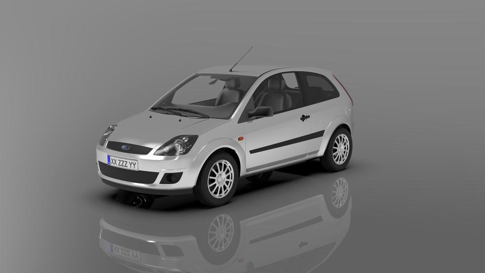 福特嘉年华(2003- 2008年)原MK53D打印模型 1