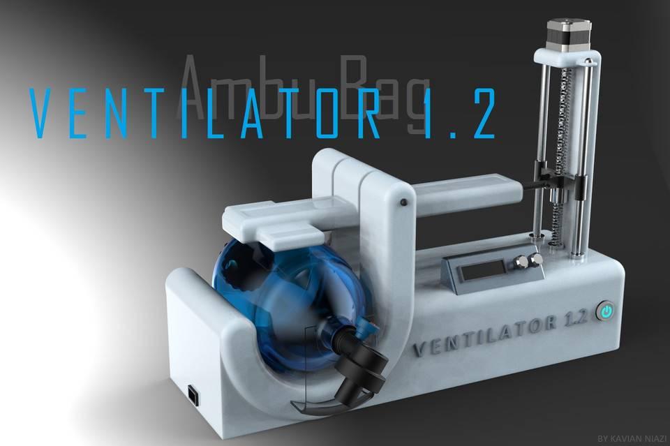 AmbuBag Ventilator 1.2 (COVID-19 crisis)3D模型插图1