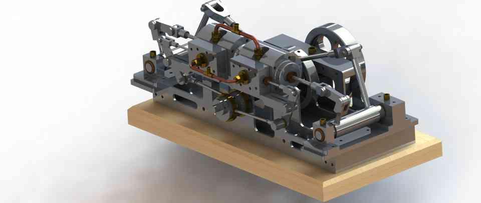 监视器蒸汽机弯了腰3D打印模型插图1