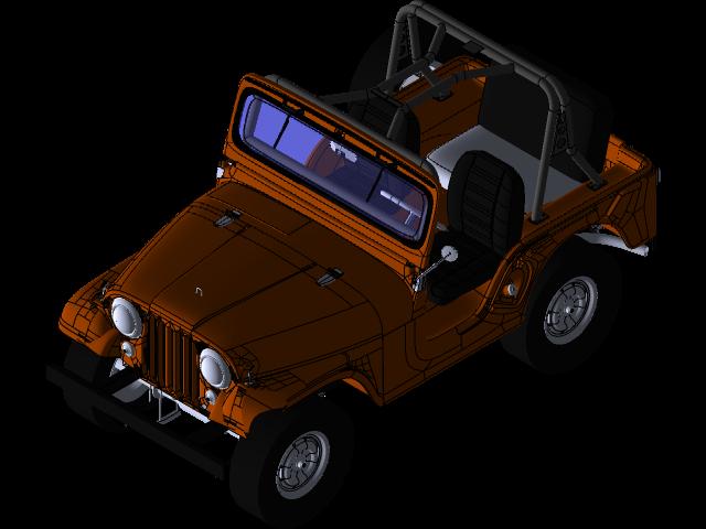吉普威利斯CJ53D打印模型插图1