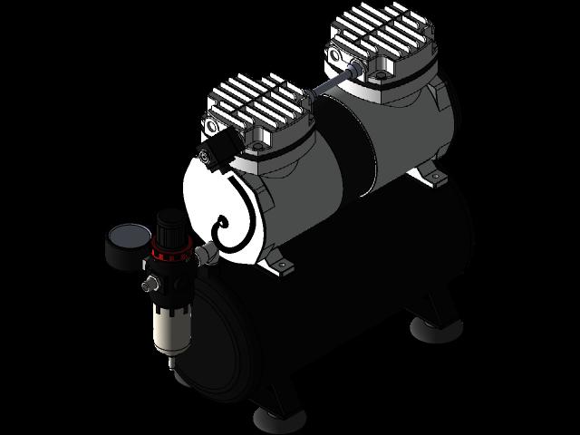 空气压缩机JAS3D打印模型 1