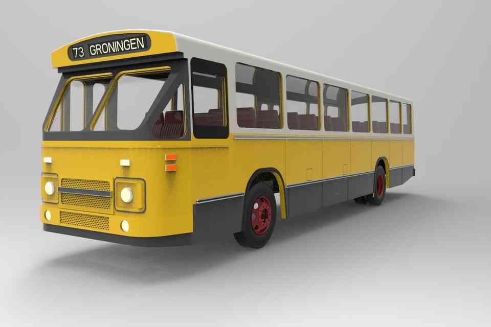 巴士公交车 MB2003D打印模型