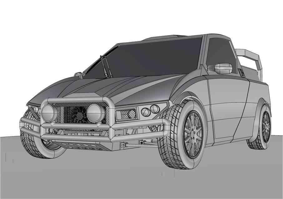DIY城市公用交通工具3D打印模型插图1