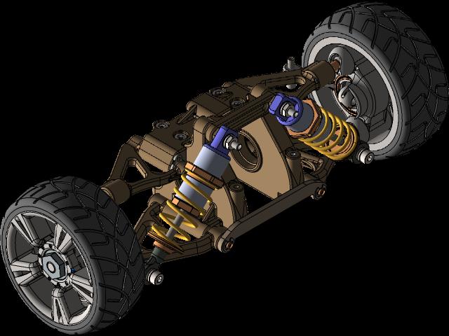 双横臂独立悬架3D打印模型插图1