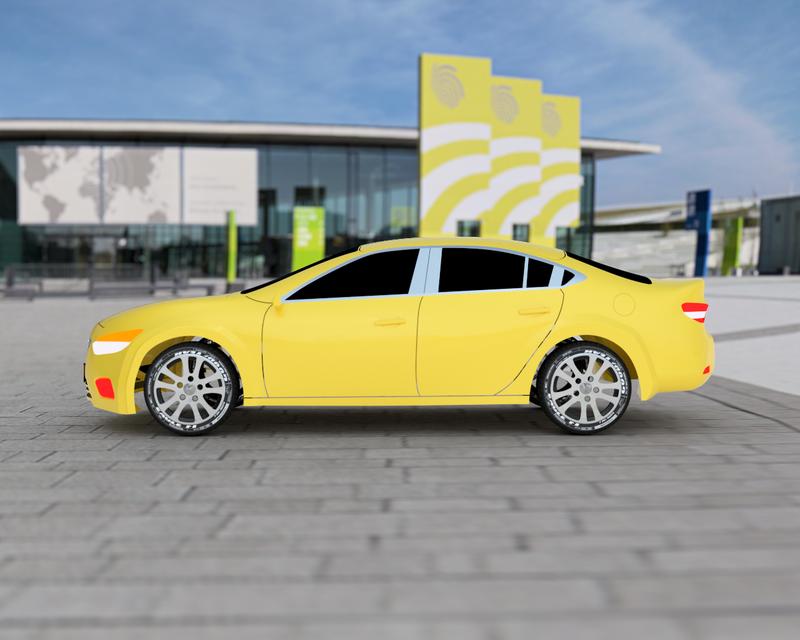 马自达6 2013概念车3D打印模型 1
