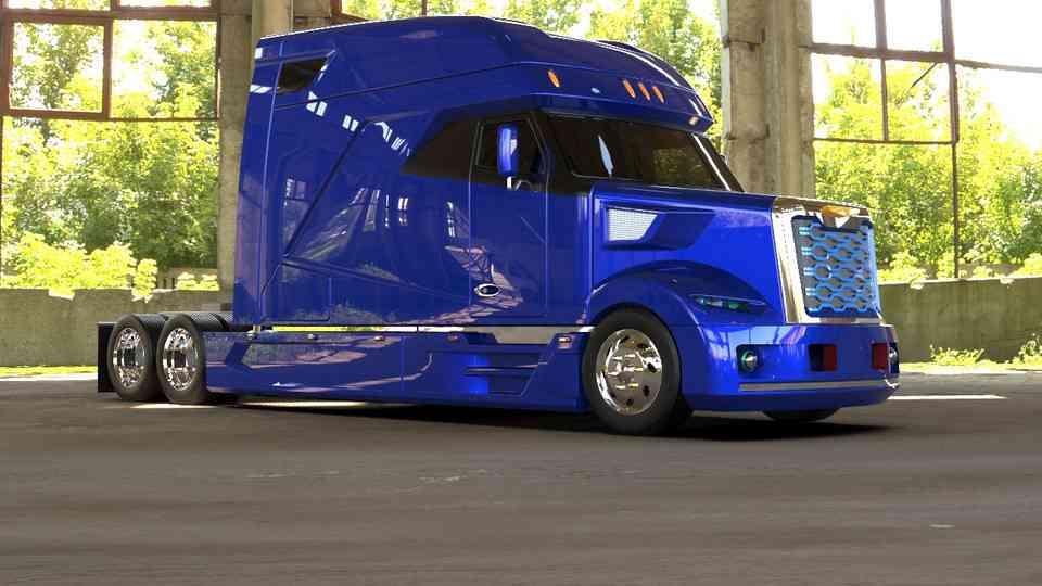 美国卡车3D打印模型插图1