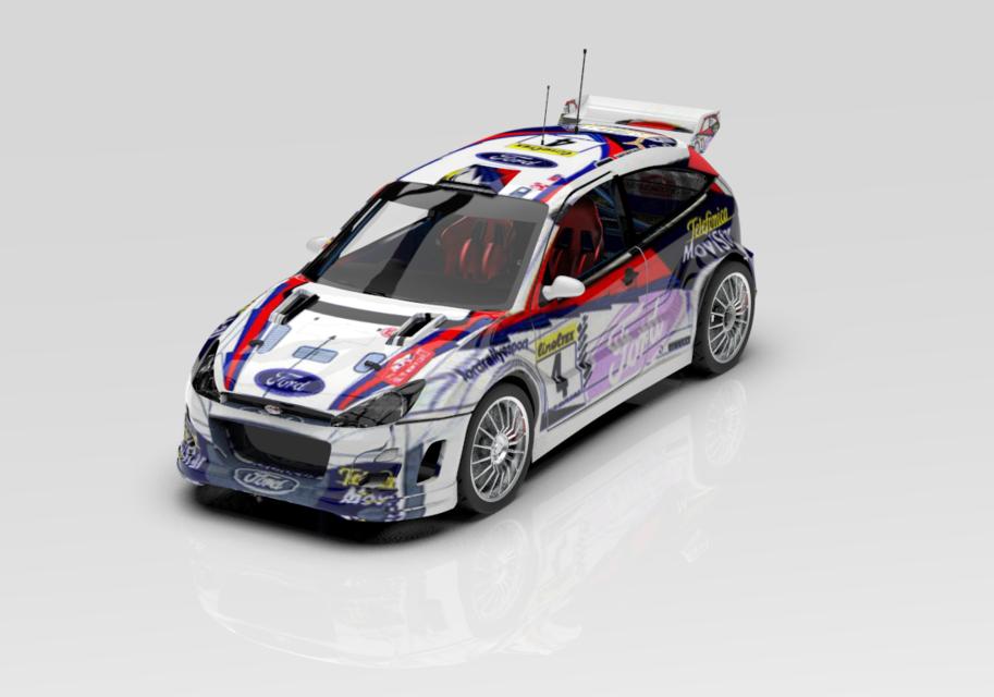 科林·麦克雷的福特福克斯1999年汽车拉力赛3D打印模型插图1