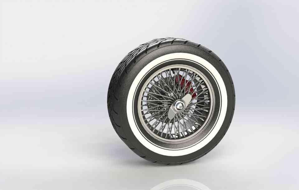 钢丝辐轮式3D打印模型插图1