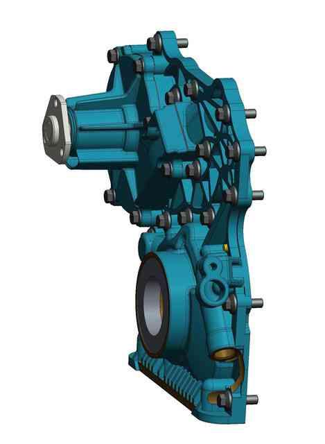 油和冷却剂泵外壳3D打印模型插图1